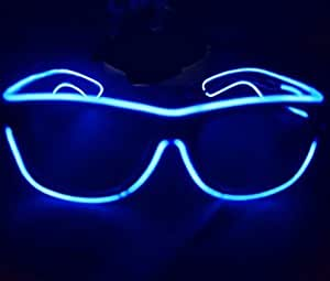 8c3ebb62693 Doyime 1pc LED Light Up Glasses for Rave Costume Party with Battery ...
