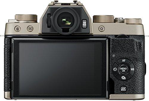 Fujifilm X-T100 Mirrorless Digital Camera with XC 15-45mm Lens & XF 23mm Lens Kit (Champagne Gold)