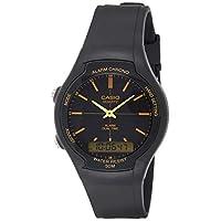 Casio Men's Black Dial Resin Analog-Digital Watch - AW-90H-9EVDF