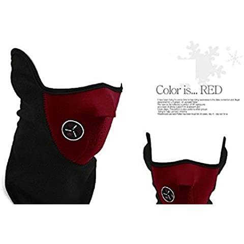 XJoel contra el cuello de invierno caliente fría máscara de la máscara de Paintball Bicicleta Bicicleta roja