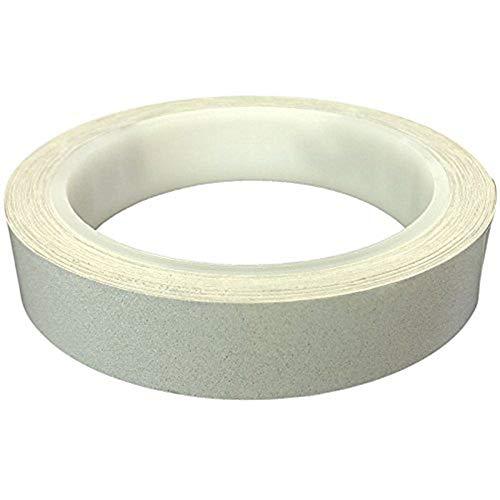 Reemky 20mm x 10m Reflexstreifen - Hochsichtbarkeitsband Premium Hochleistungs, Retro-reflektierender Film für den Außenbereich, Auto, Warnweste, Dachboden-Treppengeländer, Camper-Treppen (Weiß) (Weiß Pet Treppe)