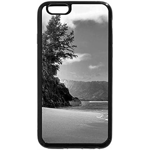 iPhone 6S Case, iPhone 6Case (Black & White)–HIDEAWAYS spiaggia Princeville Kauai Hawaii paradiso isola