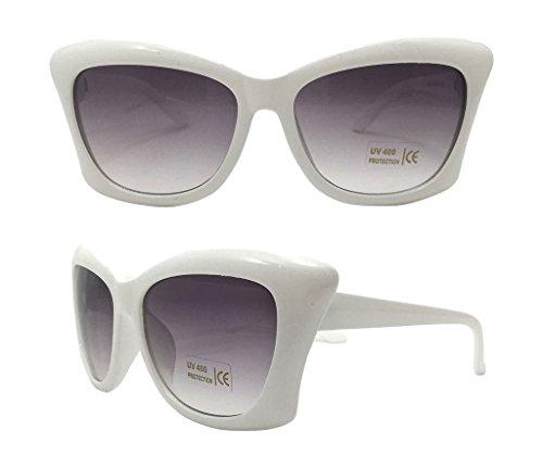 Fashion bazar Damen Sonnenbrille, weiß