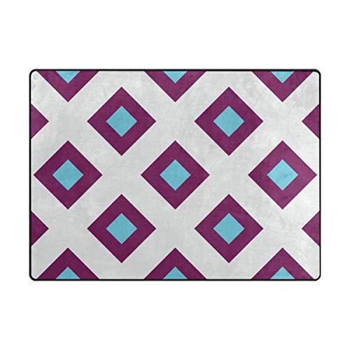 n Stripe Polyester Druck Memory-Foam Area Teppich für Dekoration Wohnzimmer oder Schlafzimmer rutschfest und waschbar, große Bodenmatte 203,2 x 147,2 cm ()
