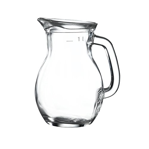 Genware Nev-jug100 classique en verre Carafe, 1 l/35 g (lot de 6)