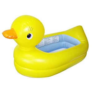 munchkin white hot inflatable duck tub baby. Black Bedroom Furniture Sets. Home Design Ideas