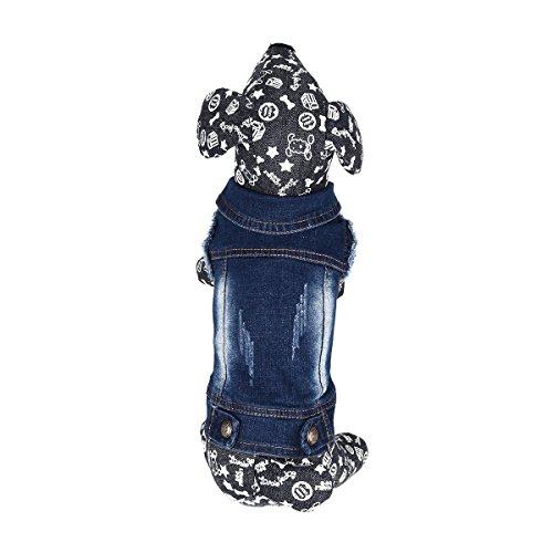 Kostüm Samojede (YiZYiF Hundeshirt, Hundekleidung Denim Hundemantel Weste Tank Top Cowboy Kostüm XS-XXL Blau)