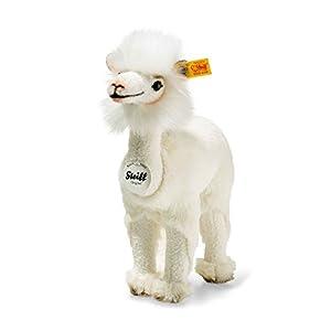Steiff 104190Lita Lama, De Peluche, pie, 24cm, Color Crema