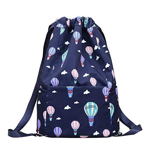 New Drawstring Pocket Leichte Komfort-Umhängetasche Große Kapazität Wasserdicht Fashion Trend Rucksack Rucksack Blau -