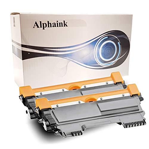 Alphaink AI-KIT2-TN-2220 KIT 2 Toner PATENTATI Compatibili per Brother TN2220 e TN2010 HL2230 HL2240 HL2250 HL2250N HL2250DN DCP7060D 7860DN MFC7360N HL2130 HL2135W DCP7057 FAX2840 2600 copie (2)