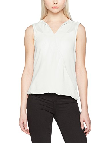 VERO MODA Damen Vmrina Sl Wrap Top Weiß (Snow White)