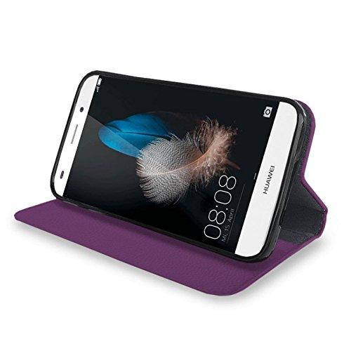 Für Apple iPhone --- 6s-Plus --- eSPee Hülle Schutzhülle Wallet Flip Case Cremeweiss mit Swarovski® Kristallen Unendlichkeit liegende 8 UNZERBRECHLICHER Silikon Schale / Bumper und Magnetverschluss Lila