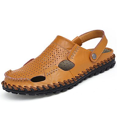 Slippers & amp da uomo;Estate Comfort PU all'aperto Sandali piatti con fibbia tacco sandali US6-6.5 / EU38 / UK5-5.5 / CN38
