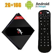 H96 Pro Plus Android 7.1 TV Box Amlogic S912 Octa-core Cortex-A53 64 Bits CPU,2 GB+16GB Dual WiFi 2.4 GHz/5.0 GHz Bluetooth 4.1 H.265 4K Ultra HD 3D Smart TV Box