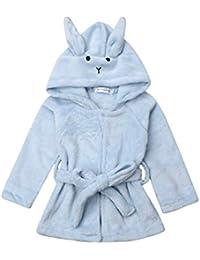 Albornoz Infantil con Capucha de Conejo, túnica cálida para el Invierno ...