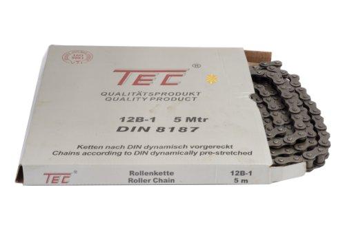 Preisvergleich Produktbild 1 Bund (=5m) TEC Rollenkette 12B-1 (3/4 x 7/16'') DIN8187 [Grundpreis: 6,40EUR/m]