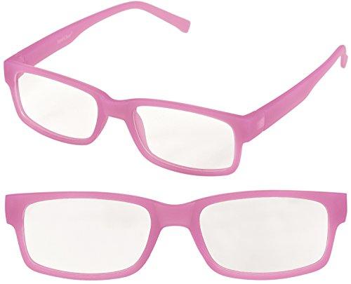 Sexy Pinky GLOW Slim Nerd Brille, leuchtet im Dunkeln