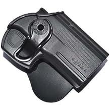 Noga negro táctico pistola pistolera cinturón Holster Fit para todos los la mayoría de pistola
