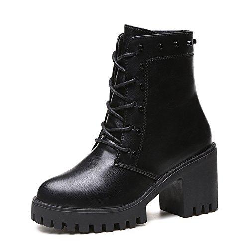 High heel femmes bottes pour l'automne/hiver/ imperméable à l'eau/In-tube Martin bottes A