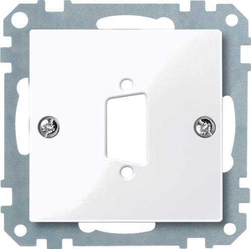 D-subminiatur-stecker (Merten 467625 Zentralplatte für D-Subminiatur-Steckv. 9-polig, aktivweiß glänzend, System M)