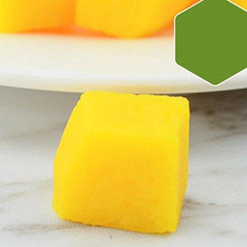 Spielzeug Hammer Simulation Pfirsich Zitrone Kiwi Erdbeere Scheibe Obst Modell Platter Kuchen DIY Zubehör (gelbe Mango)