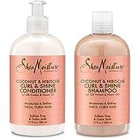 Shea Moisture Coconut & Hibiscus Curl & Shine Shampoo and Conditioner Set