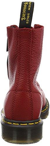 Dr. Martens Pascal W/Zip, Bottes Classiques Femme, Noir Rouge (Dark Red Aunt Sally)