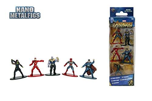 Jazwares - Nano metalfigs - Marvel Avengers infinity War - Pack of 5 figures 4 cm (Thanos Man, Iron Spider, Dr. Strange, Gamora), 99919