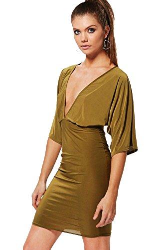 olive Femmes Tall Robe Moulante À Manches Kimono Olive