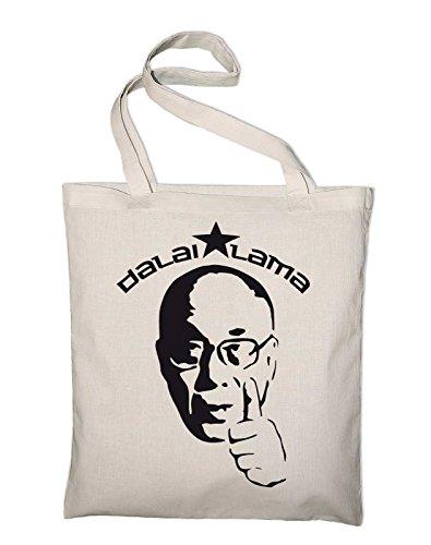 Dalai Lama Jutebeutel, Beutel, Stoffbeutel, Baumwolltasche, gelb Natur