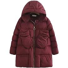 ZhiYuanAN Donna Medio Trapuntato Imbottito Inverno Cappotto Giacca Pelliccia Eskimo con Tasche