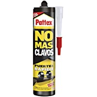 Pattex No Mas Clavos, adhesivo multimaterial y resistente, color blanco 370 gr