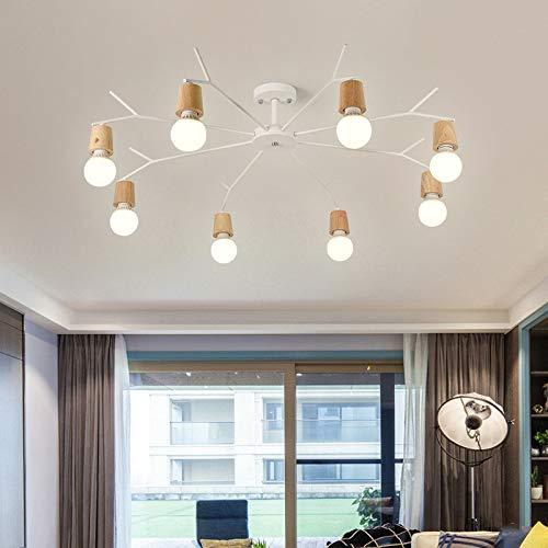 Einzelne Schlafzimmer Restaurant LED-Leuchte 8 weiß mit monochromen LED-Weißlicht 9 Watt Glühbirne