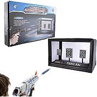 GUOGUO Disparos automáticos Target para Nerf Soft Juegos Objetivo Auto-Reset con Efecto de Sonido de luz con Dardos de Espuma Caja de colección