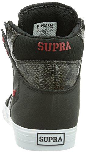 Supra VAIDER, Unisex-Erwachsene Hohe Sneakers Schwarz (BLACK/RED - WHITE   BKR)