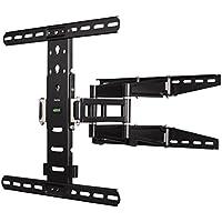 Hama TV Wandhalterung Fullmotion Ultraslim, neigbar, schwenkbar (vollbeweglich), 81 bis 142 cm Diagonale (32 bis 56 Zoll), max. 35 kg, VESA bis 400 x 400, schwarz