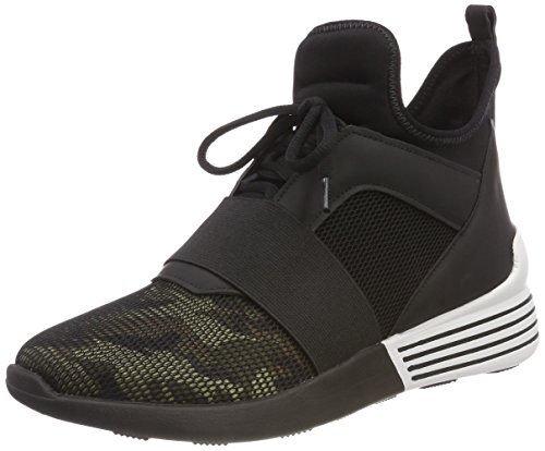 Kendall + Kylie Kkbrandy5, Sneakers Basses Femme, Multicolore (Black+White+Grey/Black Knit 000), 38 EUKendall + Kylie