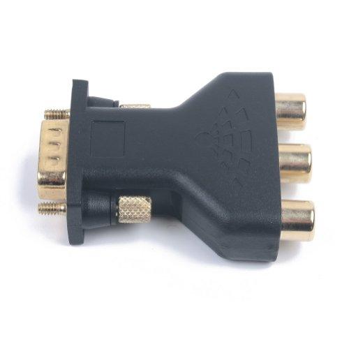 VGA de 15pines macho a 3RCA hembra M/F Conector Adaptador Convertidor