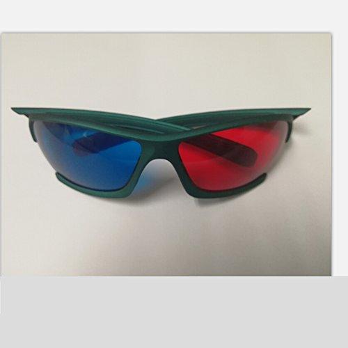 Wonderfulhony rote und blaue 3D Brille für TV, Bild, Film-2pcs