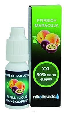 shisha-liquid 15ml (Pfirsich Maracuja Nikotinfrei) von nikoliquids