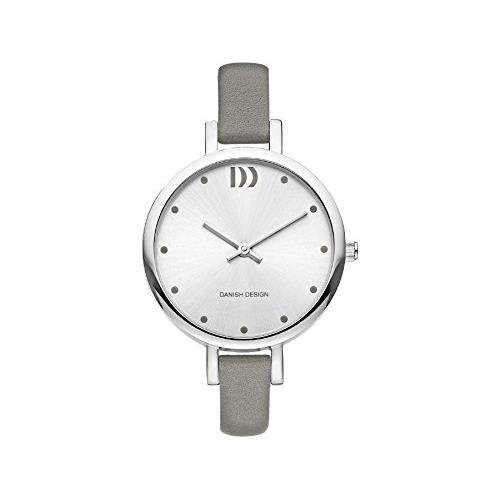 Danish Design Women's 32mm Grey Leather Band Steel Case Quartz Silver-Tone Dial Analog Watch IV14Q1141