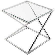 mesas auxiliares de cristal
