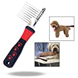 OFKPO Pettine Rastrello Deshedding Brush Animali Pettini per Cani e Gatti