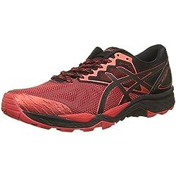 Asics Gel Fujitrabuco 6, Zapatillas de Running para Asfalto para Hombre, Rojo Fiery Red/Black 9023, 42 EU