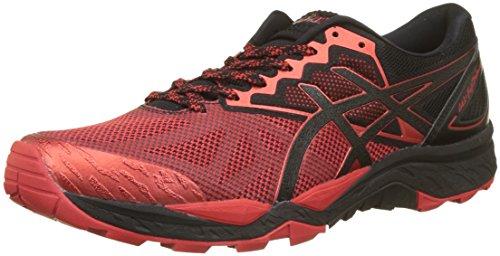 Asics Gel Fujitrabuco 6, Zapatillas de Running para Asfalto para Hombre, Rojo (Black/Fiery Red/Black 9023), 41.5 EU
