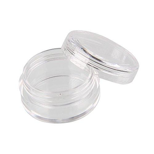 Beauty7 Lot de 12 Pot Distributeur Plastique Coffret Stockage Boîte Coffret Contenant Pour Cils Perle Gemme