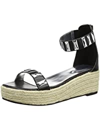 Tantra Leather Espadrille Wedge Sandals with metallic details  - Sandalias para mujer