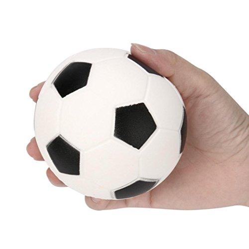 Squishtoy Jouet de décompression de football noir et blanc de rebond lent de 9cm
