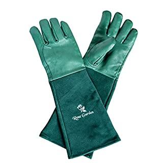 ACE Rose Garden - Rose Pruning Thornproof Gardening Gloves with Extra Long Forearm Protection - Cow Leather - Size 7
