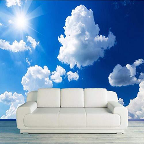 Paysage Mural 3D Paysage Pastoral Ciel Bleu Et Nuages   Blancs...